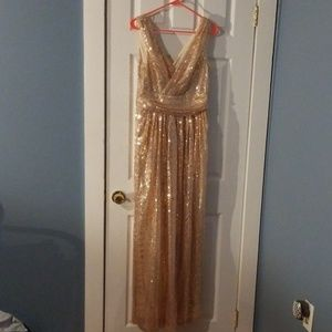Kate Kasin rose gold dress